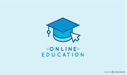 Modelo de logotipo de aprendizagem on-line