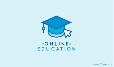 Online learning logo template
