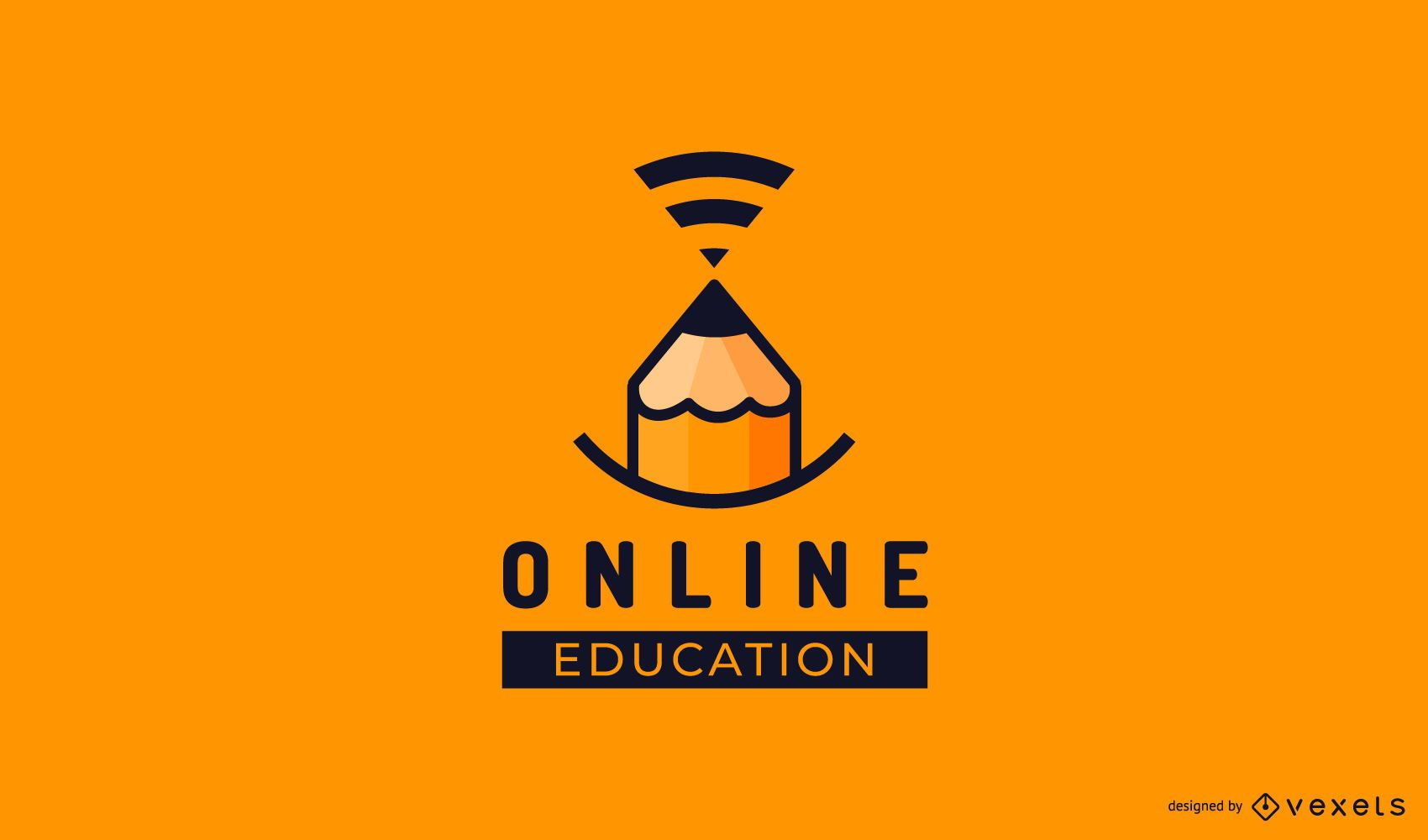 Modelo de logotipo de estudos online