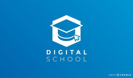 Plantilla de logotipo de escuela digital