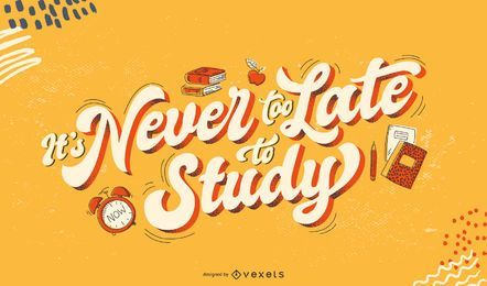 Nie zu spät, um Schriftzüge zu studieren