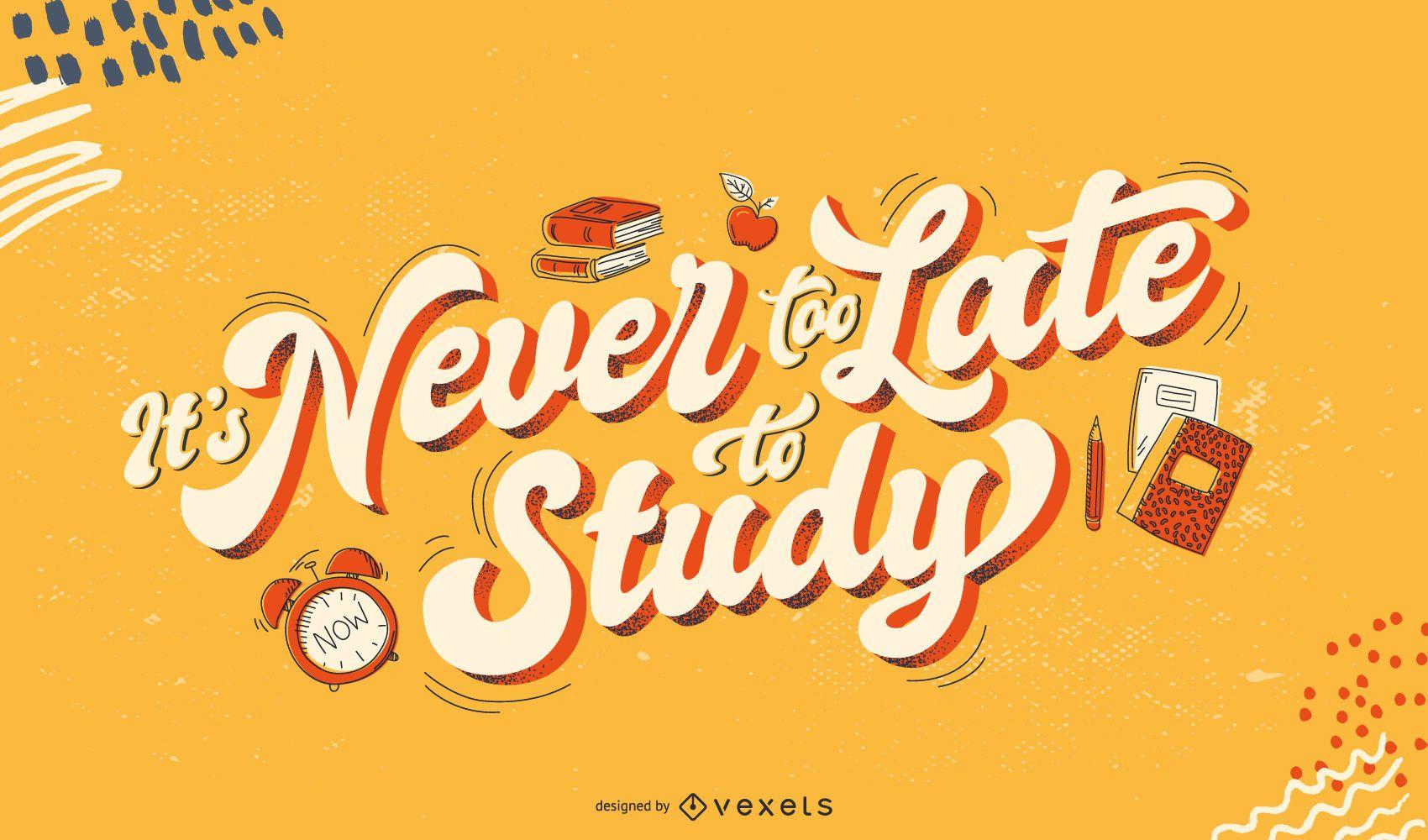 Nie zu spät um Schriftzüge zu studieren