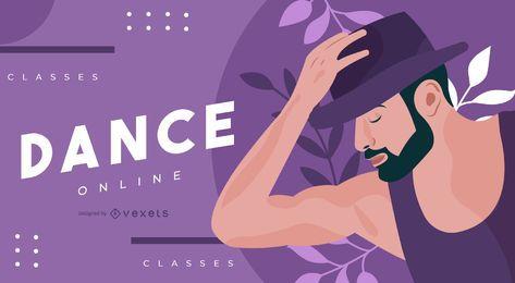 Plantilla deslizante de baile en línea