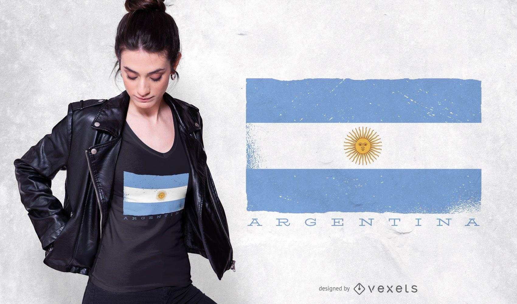 Argentina Flag T-shirt Design
