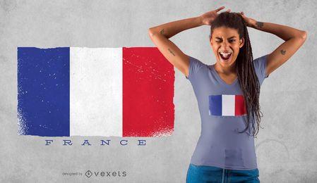 Design de camisetas da bandeira da França