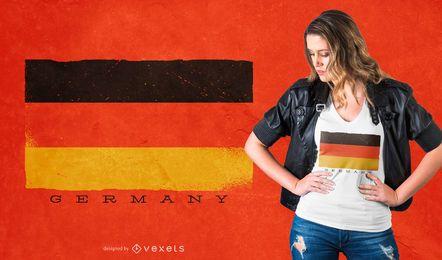 Diseño de camiseta de bandera de Alemania