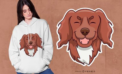 Cute Hairy Puppy Dog T-shirt Design