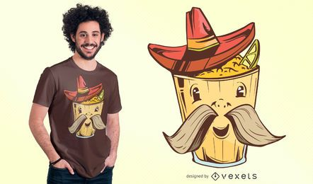 Mex Food Cartoon T-shirt Design