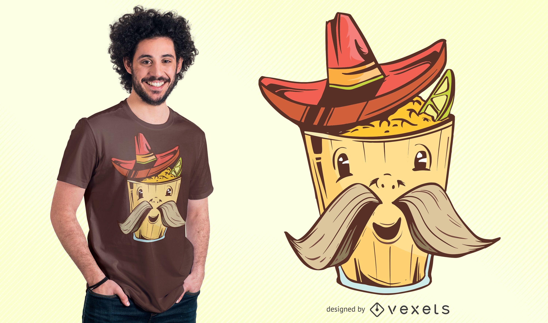 Mex Food Cartoon T-shirt Design