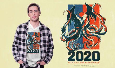 Design de t-shirt de citação de monstro 2020