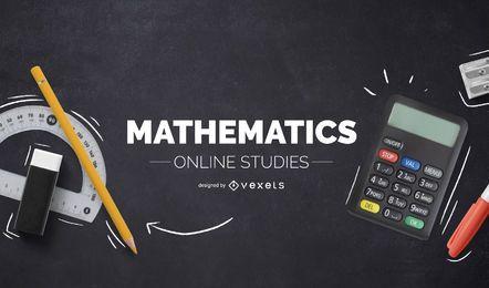 Diseño de portada de estudios de matemáticas en línea