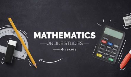 Mathematics online studies cover design