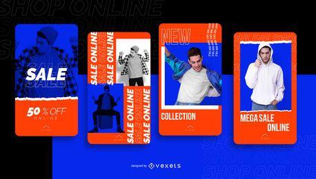 História de mídia social de venda de loja on-line
