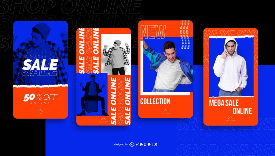 Online store sale social media story