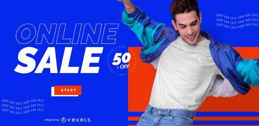 Online-Shop Verkauf Schieberegler Vorlage