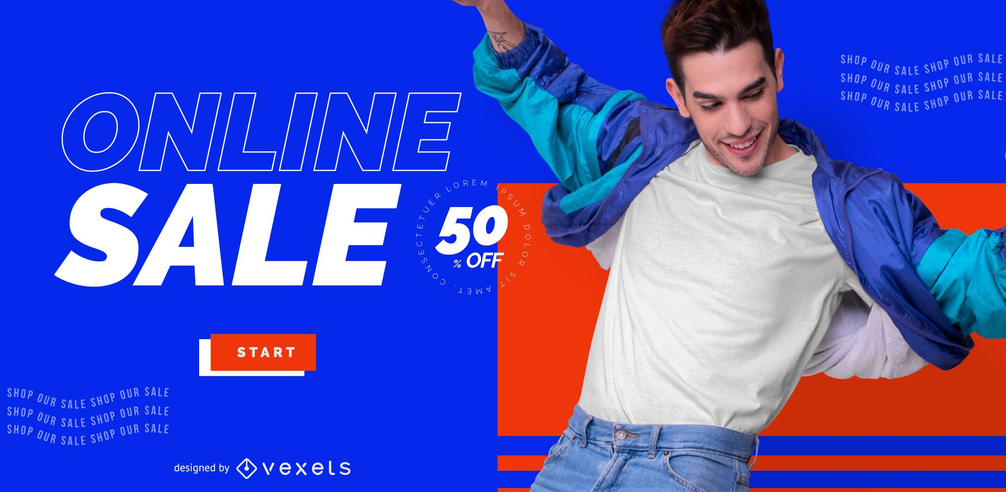 Online store sale slider template
