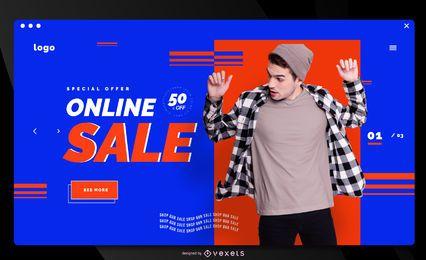Modelo de página de destino de venda de loja online