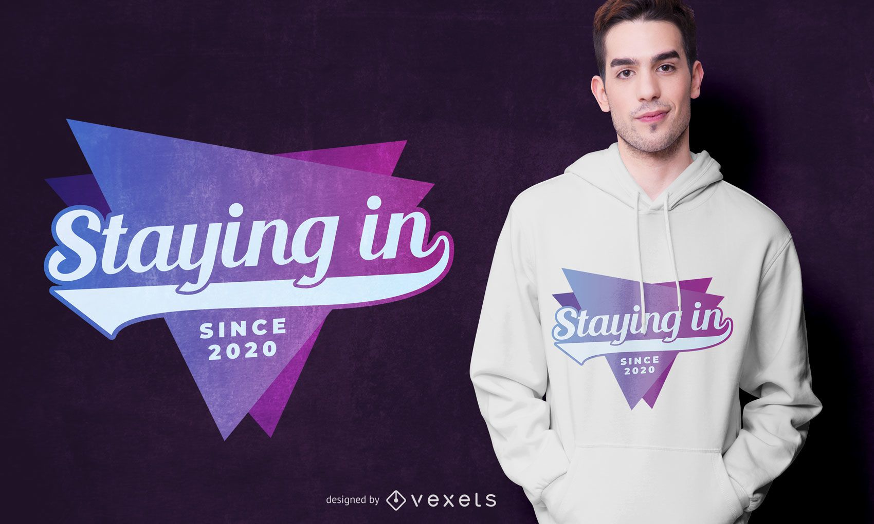 Staying in Since 2020 T-shirt Design