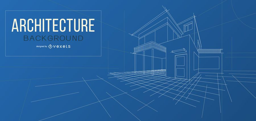Architecture blueprint background design