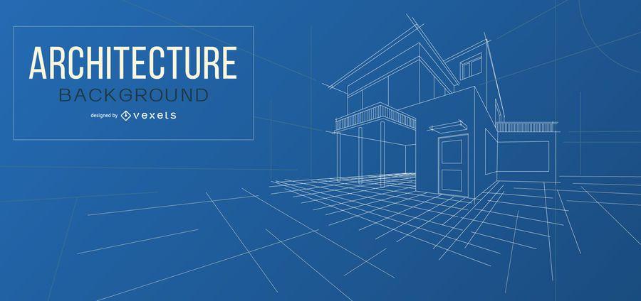 Diseño de fondo de plano de arquitectura