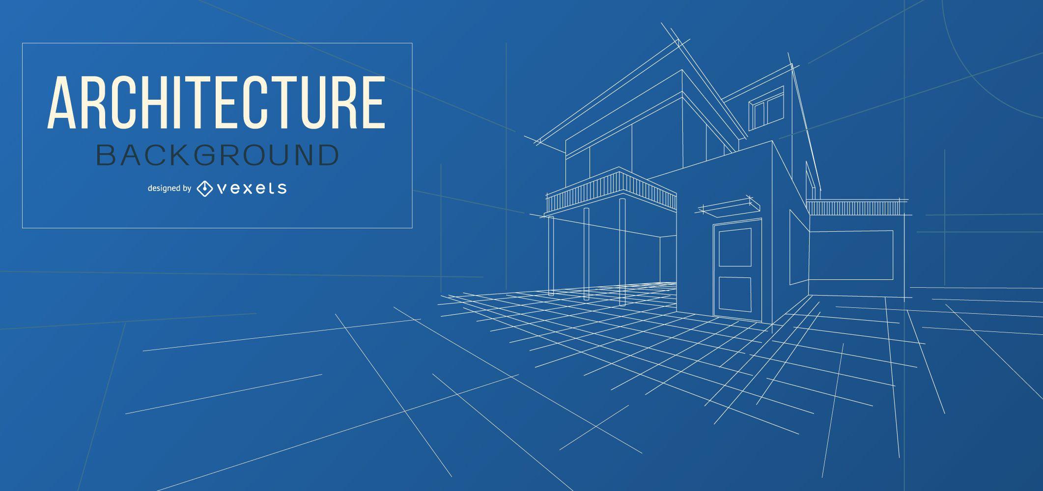 Architecture blueprint background design