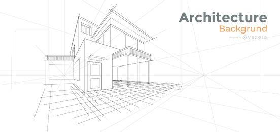 Projeto de plano de fundo de casa de arquitetura