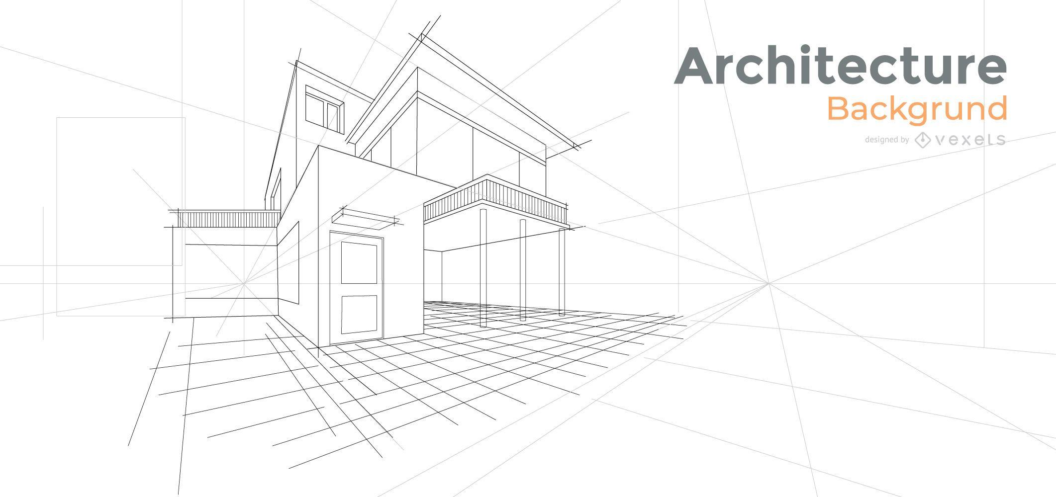Diseño de fondo de casa de arquitectura