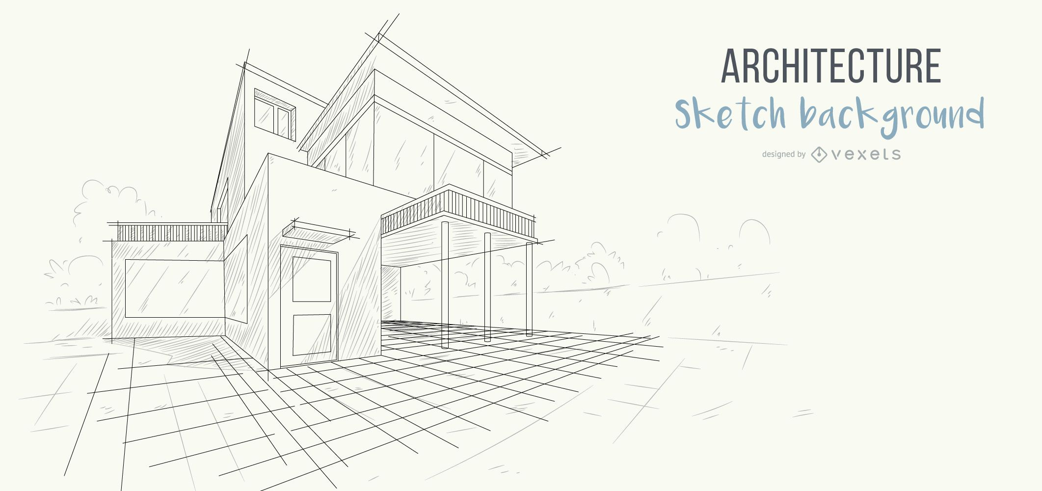Architecture house sketch background