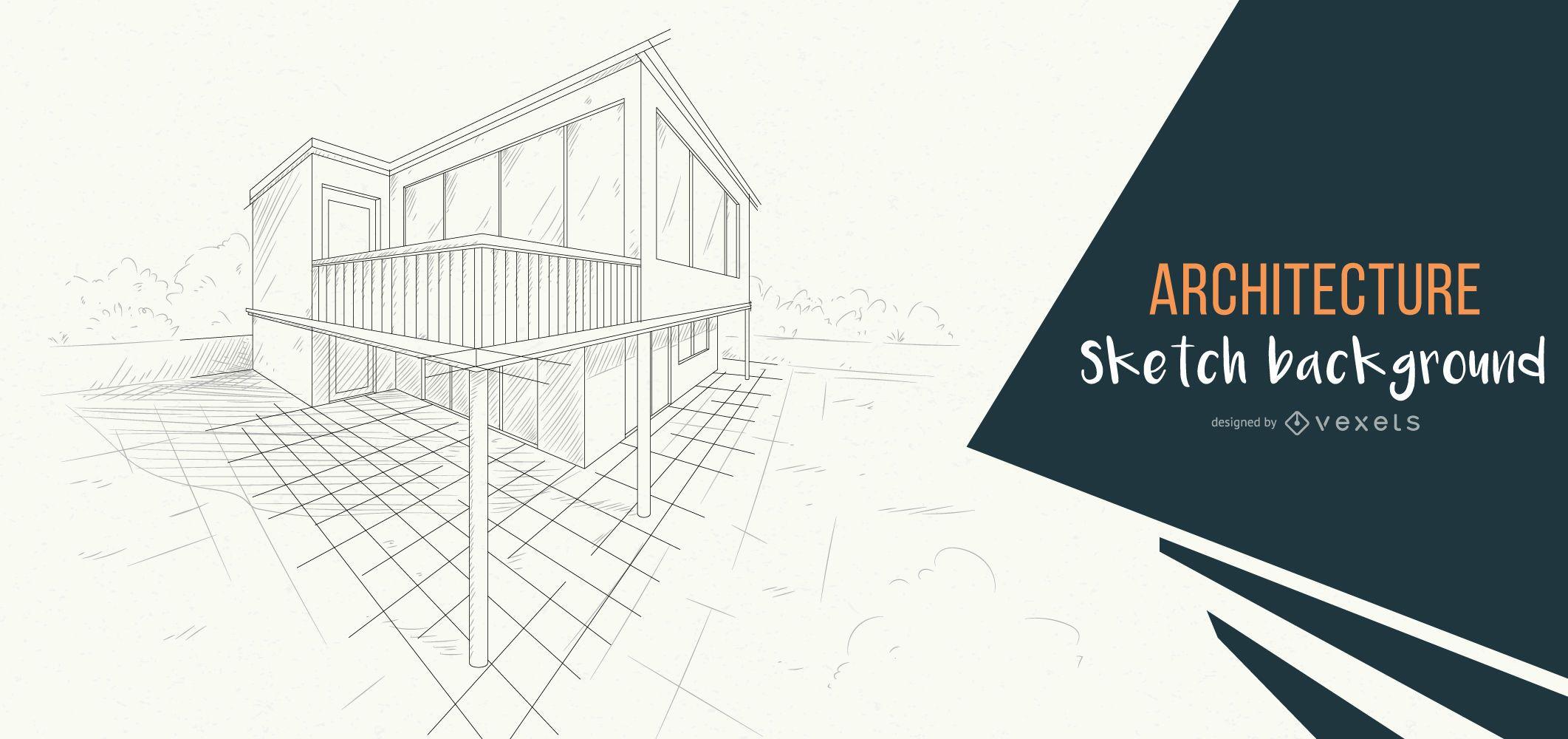 architecture background building sketch design