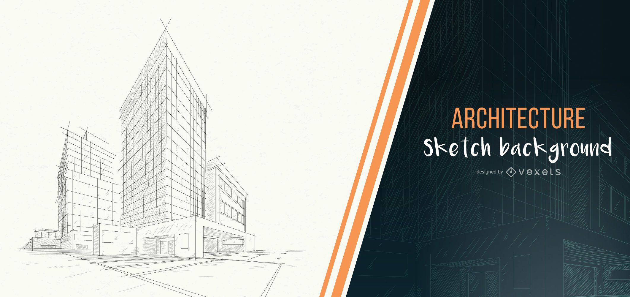 Architecture building sketch background