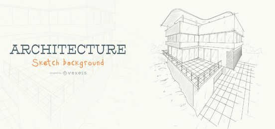Arquitectura boceto fondo de construcción