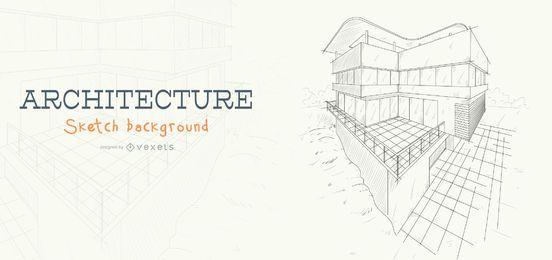 Esboço de arquitetura, construção de plano de fundo
