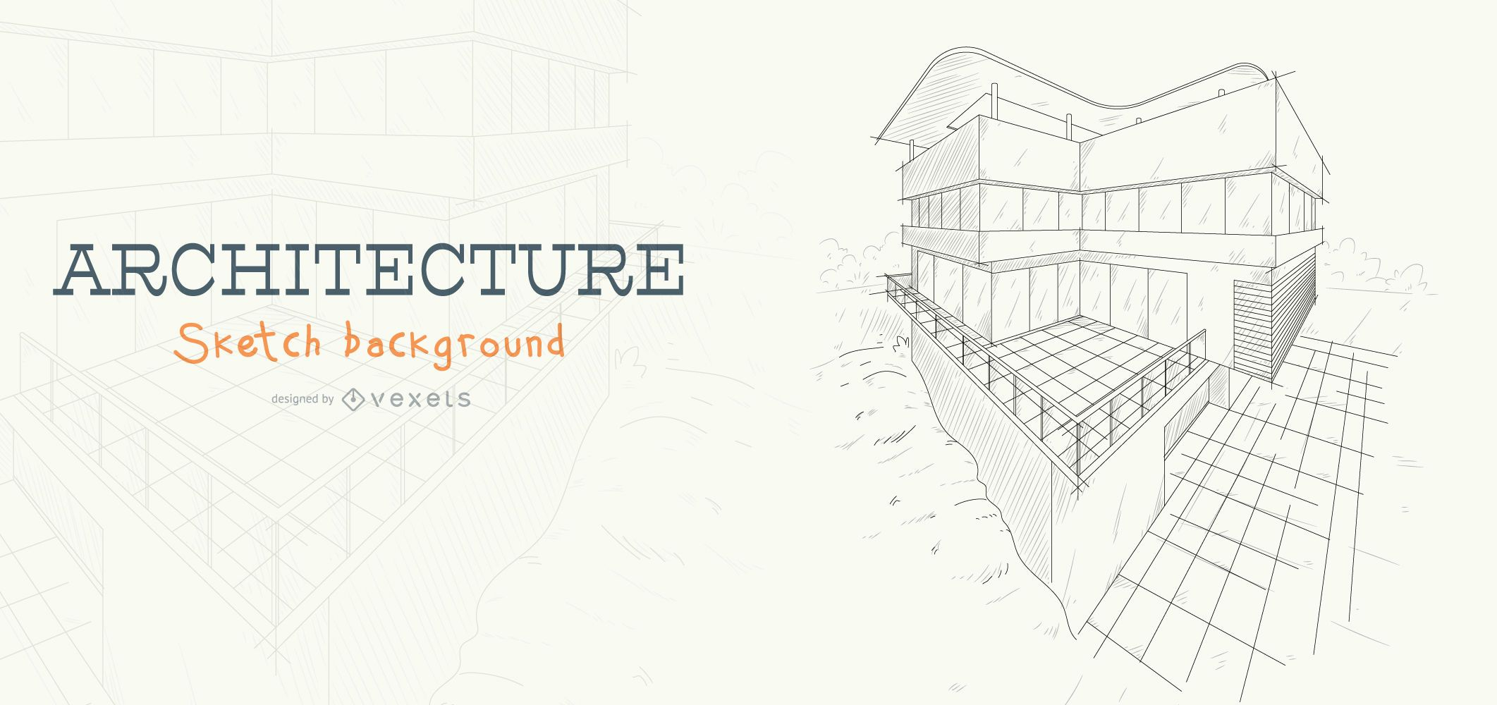 Architecture sketch building background