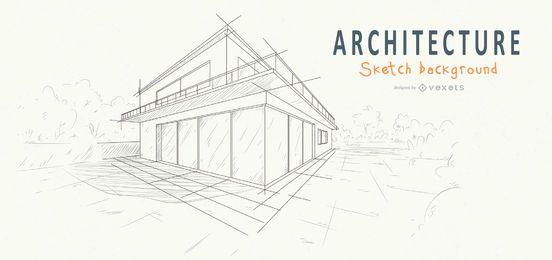 arquitetura casa fundo esboço desenho