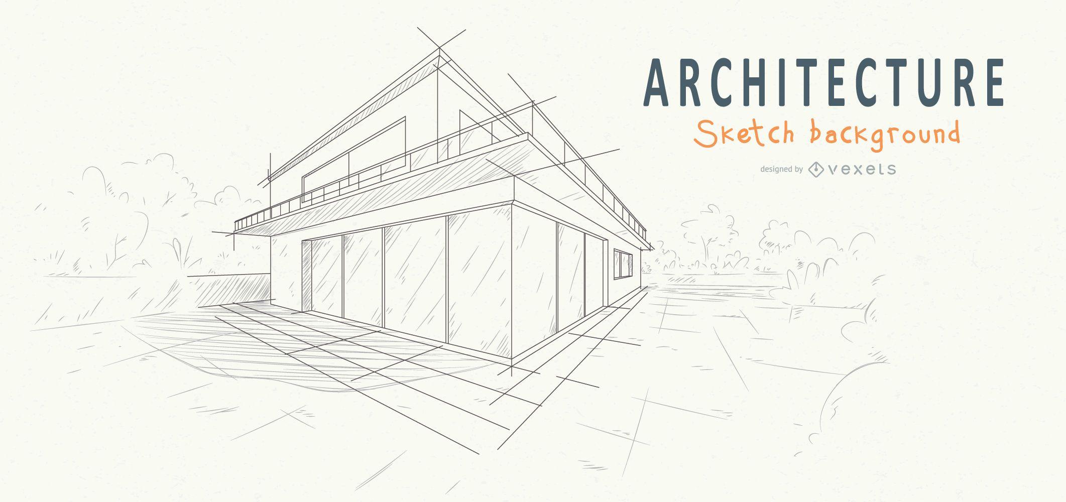 architecture house background sketch design