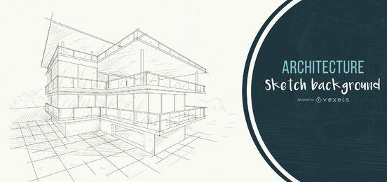 arquitectura fondo casa bosquejo