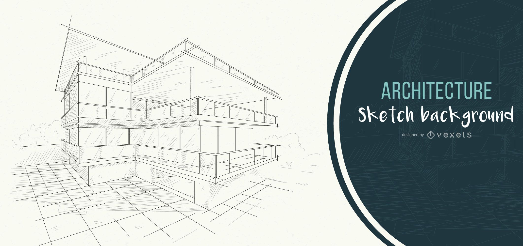 architecture background house sketch