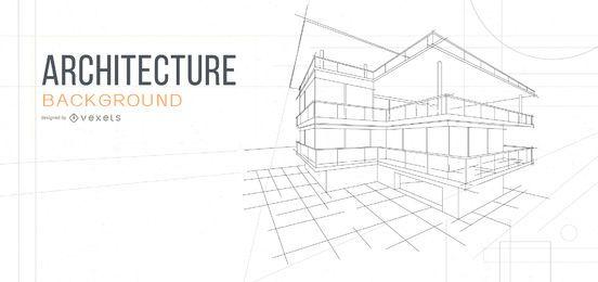arquitetura plano de fundo desenho de casa