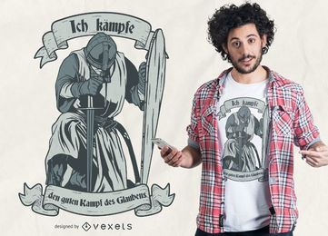 Design de t-shirt de citação alemão cavaleiro