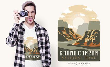 Diseño de camiseta del Gran Cañón