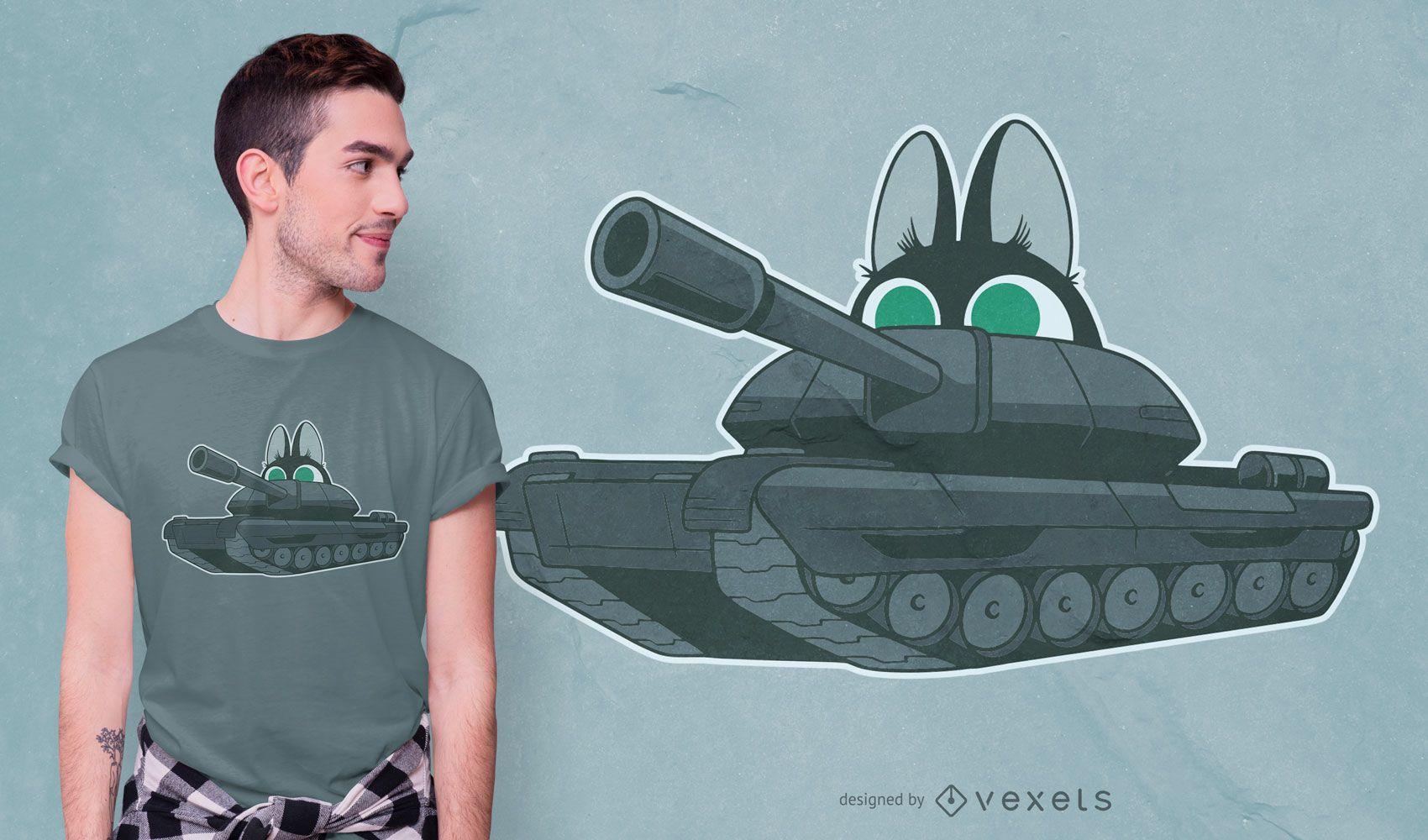 Diseño de camiseta Cat Tank