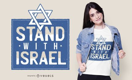 Stand With Israel Quote diseño de camiseta