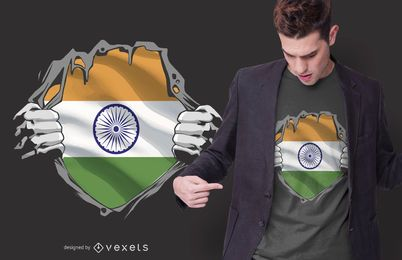 India Chest Burst T-shirt Design