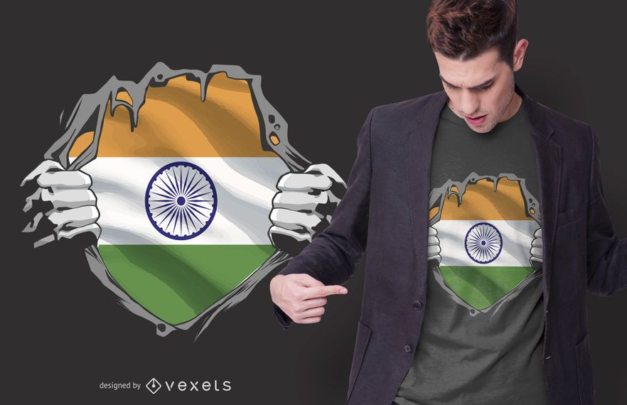 India Chest Burst T-shirt Design