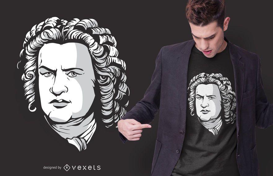Bach Portrait T-shirt Design