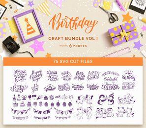 Paquete de manualidades de cumpleaños Vol I