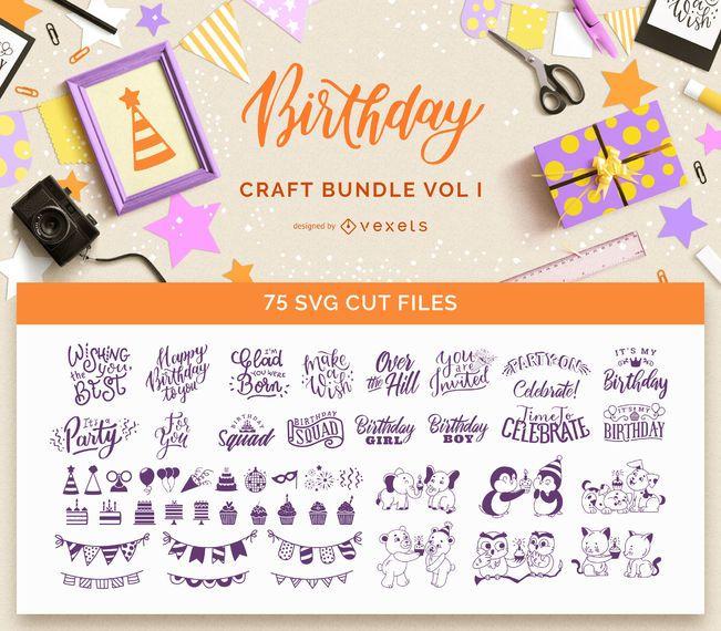 Birthday Craft Bundle Vol I