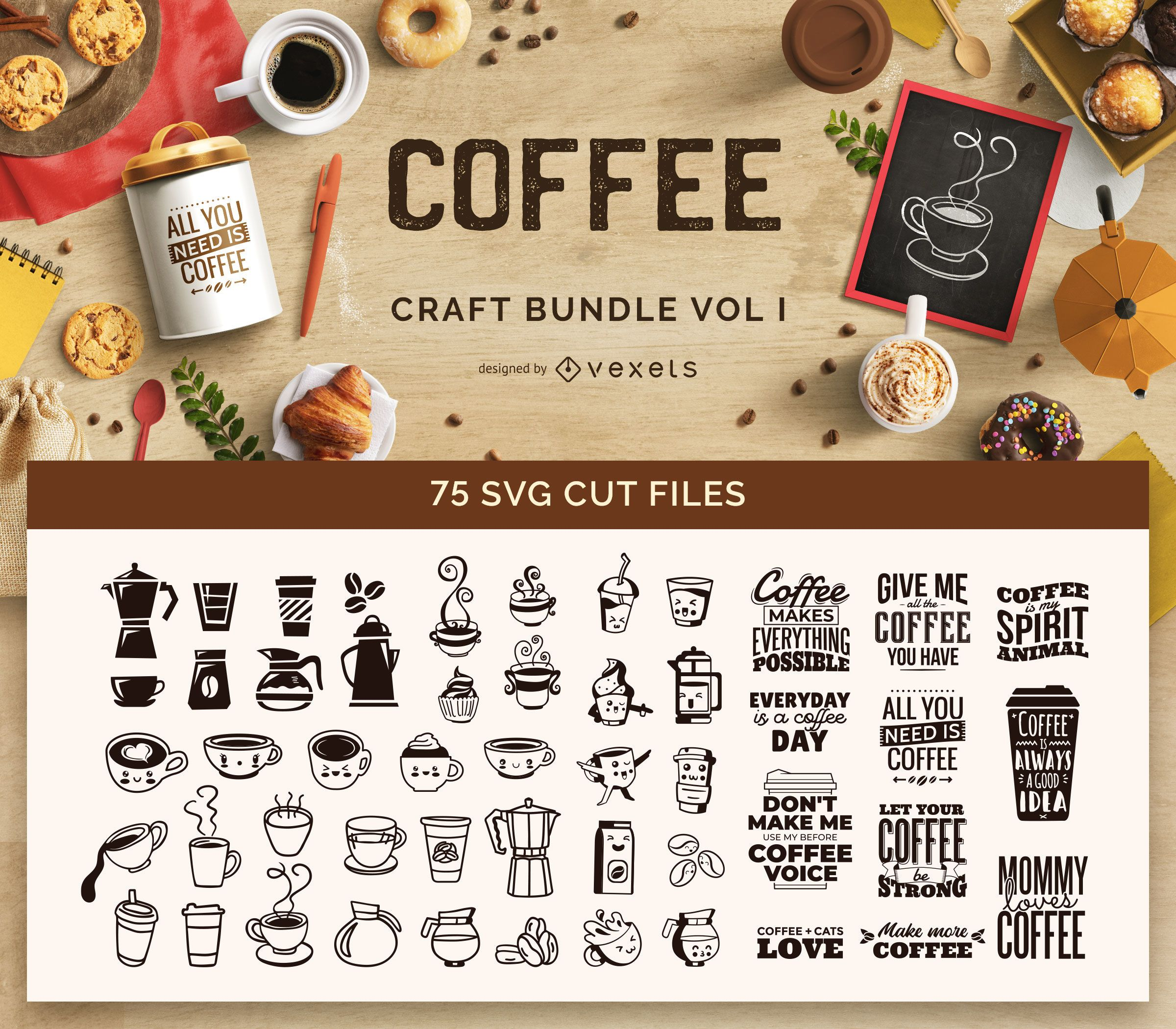 Paquete de manualidades de café Vol I