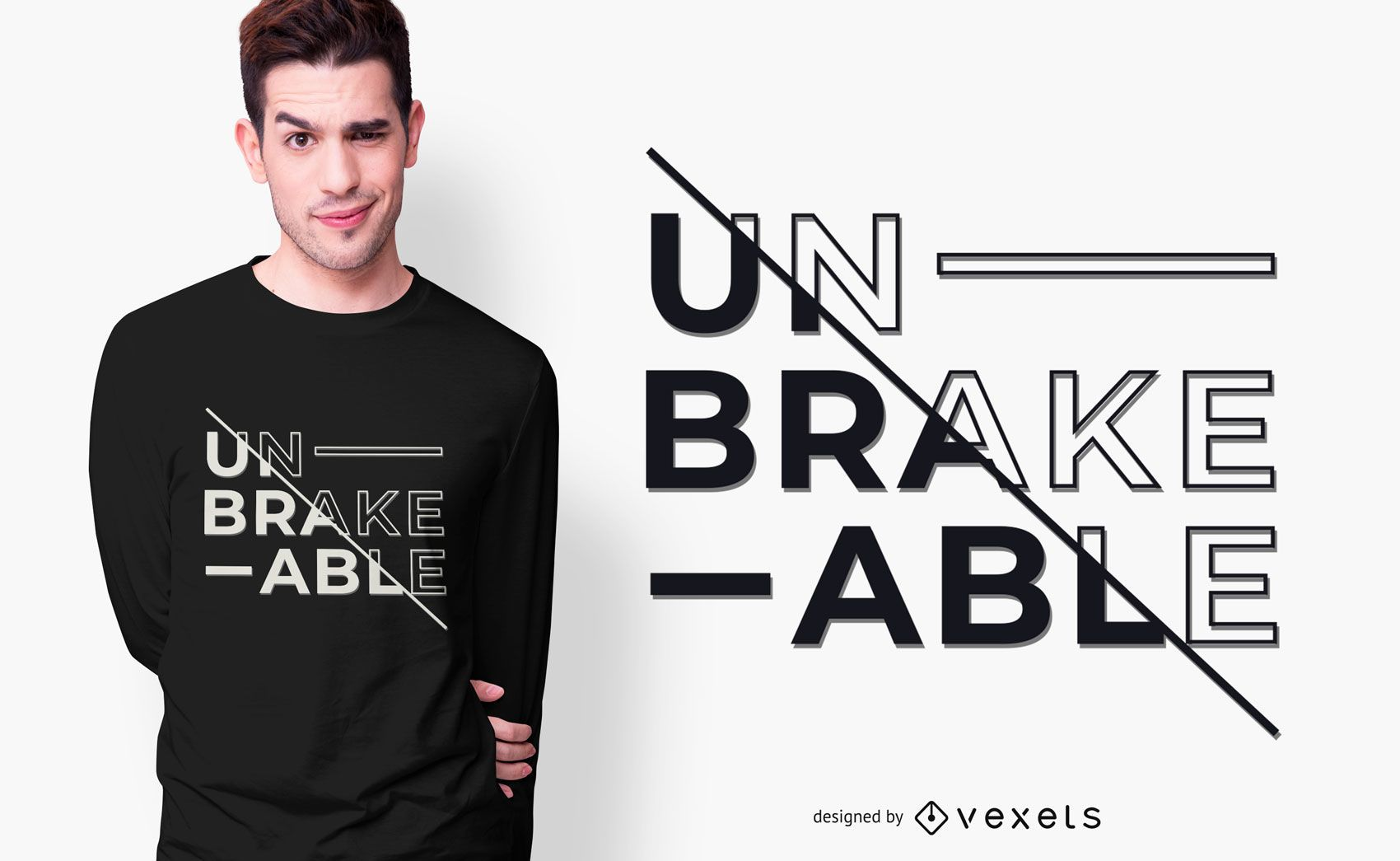 design de camiseta inquebrável