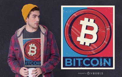 Diseño de camiseta Bitcoin Coin